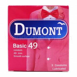 ถุงยาง Dumont ดูมองต์เบสิค 49 มม. ยกโหล 12 กล่อง (36 ชิ้น)