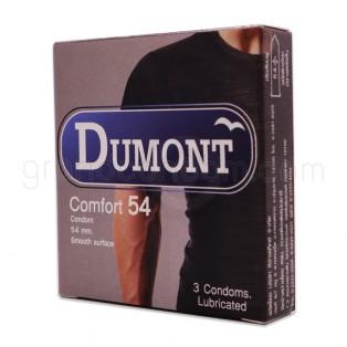Dumont Comfort 54 (ถุงยางอนามัยดูมองต์ คอมฟอร์ท 54 มม. 1 กล่อง)