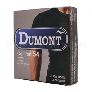 ถุงยาง Dumont ดูมองต์ คอมฟอร์ท 54 มม. 12 กล่อง (36 ชิ้น)