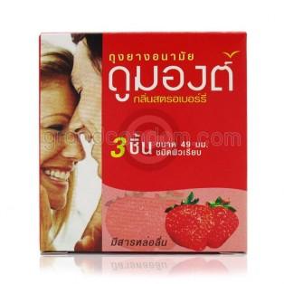 Dumont Strawberry (ถุงยางอนามัยดูมองต์ สตรอเบอร์รี่)