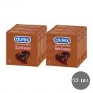 ถุงยางกลิ่นช็อกโกแลต ดูเร็กซ์ ช็อกโกแลต แพ็ค 6 กล่อง (18 ชิ้น)