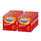 ดูเร็กซ์ สตรอเบอร์รี่ (Durex Strawberry) 12 กล่อง (36 ชิ้น)
