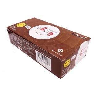 ถุงยางเอ็นดู 54 มม. ผิวเรียบ 1 กล่อง 100 ชิ้น