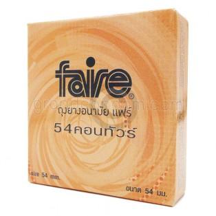 Faire Contour 54 มม. (ถุงยางอนามัยแฟร์ คอนทัวร์)