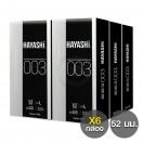 ถุงยางอนามัย 0.03 Hayashi 003 กล่องใหญ่ 10 ชิ้น (แพ็ค 6 กล่อง)