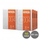 ถุงยาง 49 บาง ถุงยางอนามัยฮายาชิ 004 แพ็ค 6 กล่อง (12 ชิ้น)