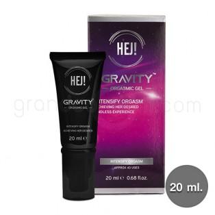 HEJ Gravity Orgasmic Gel 20 ml. เจลหล่อลื่นกระตุ้นอารมณ์ (เฮ่ย์ กราวิตี้ ออกัสมิค เจล)