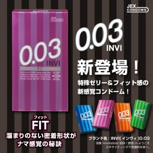 JEX 0.03 Fit (ถุงยางอนามัยเจ็กซ์ 003 ฟิต)
