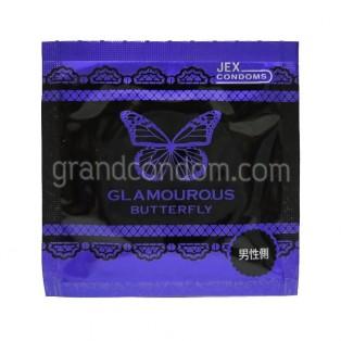 JEX Glamourous Butterfly 003 Hot (ถุงยางอนามัยเจ็กซ์ แกลมเมอรัส บัทเทอร์ฟลาย 003 ฮอท)