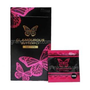 JEX Glamourous Butterfly Hot Type (ถุงยางอนามัยเจ็กซ์ แกลมเมอรัส บัทเทอร์ฟลาย ฮอท ไทป์)