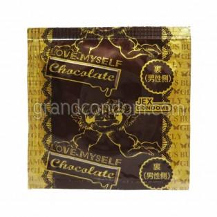JEX Glamourous Butterfly Chocolate (ถุงยางอนามัยเจ็กซ์ แกลมเมอรัส บัทเทอร์ฟลาย ช็อกโกแลต)