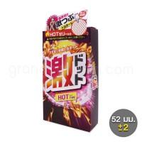 ถุงยางเกลียว Jex Geki Dot Hot jelly (1 กล่อง 8 ชิ้น)