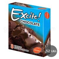 LifeStyles Excite Chocolate (ถุงยางอนามัยไลฟ์สไตล์ เอ็กไซท์ ช็อกโกแลต)