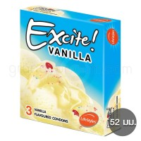 LifeStyles Excite Vanilla (ถุงยางอนามัยไลฟ์สไตล์ เอ็กไซท์ วานิลลา)