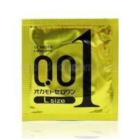 Okamoto 001 Zero One L size (ถุงยางอนามัยโอกาโมโต้ 001 ไซส์แอล) (1 ชิ้น)
