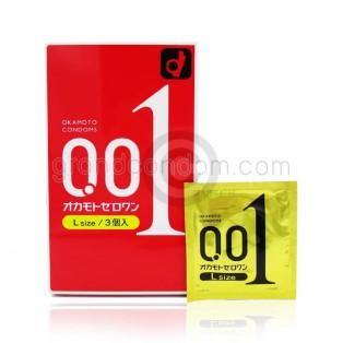 Okamoto 001 Zero One L size (ถุงยางอนามัยโอกาโมโต้ 001 ไซส์แอล)