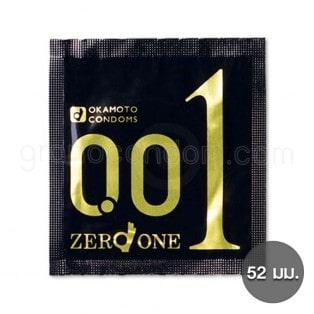 Okamoto 001 Zero One (ถุงยางอนามัยโอกาโมโต้ 001) (1 ชิ้น)