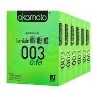 Okamoto 003 aloe (ถุงยางอนามัยโอกาโมโต้ 003 อะโล) 6 กล่อง (12ชิ้น)