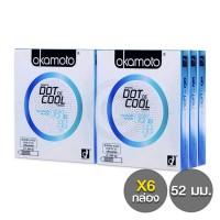 Okamoto Dot de Cool (ถุงยางแบบเย็น โอกาโมโต้ ดอท เดอ คูล) แพ็ค 6 กล่อง (12 ชิ้น)