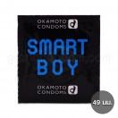Okamoto Smart Boy (ถุงยางอนามัยโอกาโมโต้ ขนาด 49 มม.) (1 ชิ้น)