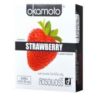 Okamoto Strawberry (ถุงยางอนามัยโอกาโมโต สตรอเบอร์รี่)