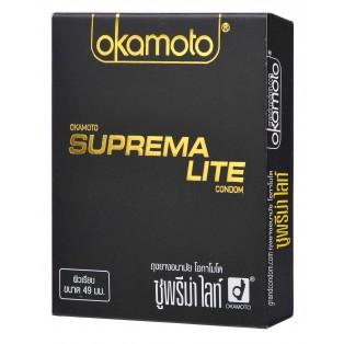 Okamoto Suprema Lite 49 มม. (ถุงยางอนามัยโอกาโมโต ซูพรีมา ไลท์)