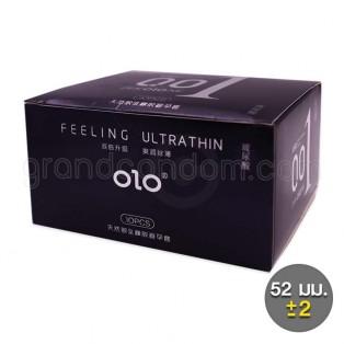 ถุงยางอนามัย olo 001 Hyaluronic Acid บาง 0.01 มม. 1 กล่อง (10 ชิ้น)