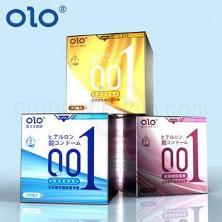 olo 001 สูตรผิวไม่เรียบ แบบมีปุ่ม 1 กล่อง (10 ชิ้น)