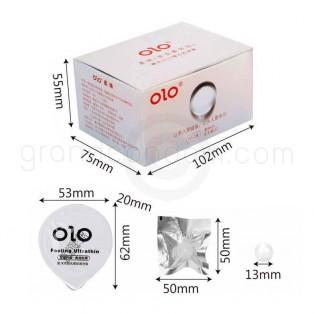 ถุงยางฝังมุก olo 001 Soft Pearl Special Beads เม็ดมุกนิ่มพิเศษ 1 กล่อง (5 ชุด)