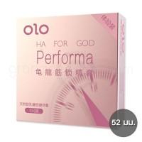 ถุงยางเสร็จช้า olo Performa 1 กล่อง (3 ชิ้น)