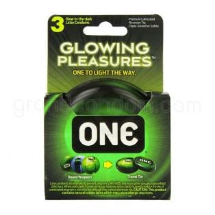 ถุงยางเรืองแสง One Glow in The Dark 1 ชิ้น