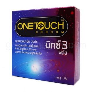 ถุงยางอนามัย One Touch Mixx 3 Plus วันทัช มิกซ์ 3 พลัส (12 กล่อง 36 ชิ้น)