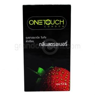 One Touch Strawberry (ถุงยางอนามัยวันทัช สตรอเบอรี่ กล่องใหญ่ 12 ชิ้น)
