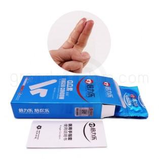 ถุงยางนิ้ว ถุงยางทอม กลิ่นมิ้น กล่องฟ้า (10 ชิ้น)
