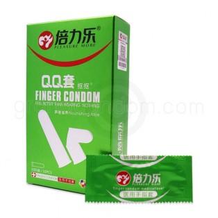 ถุงยางนิ้ว ถุงยางทอม สูตรอะโลเวร่า กล่องเขียว (10 ชิ้น)