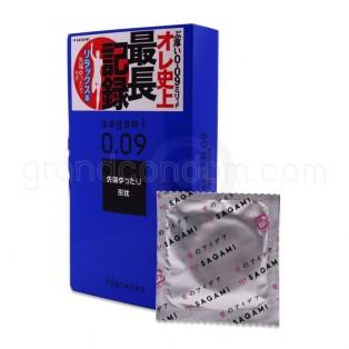 ถุงยางอนามัย Sagami 0.09 ชะลอการหลั่ง (1 กล่อง 10 ชิ้น)