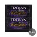 ถุงยางอนามัย Trojan Studded BareSkin ถุงยาง 53 มม. (1 ชิ้น)